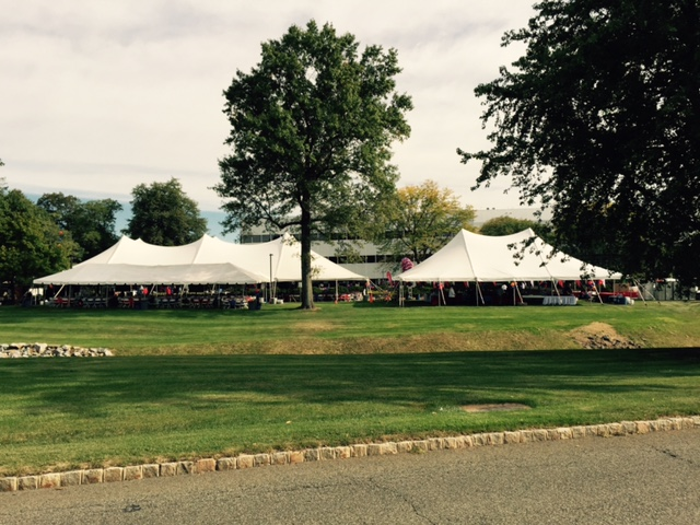 Multiple 40' Pagoda Tents