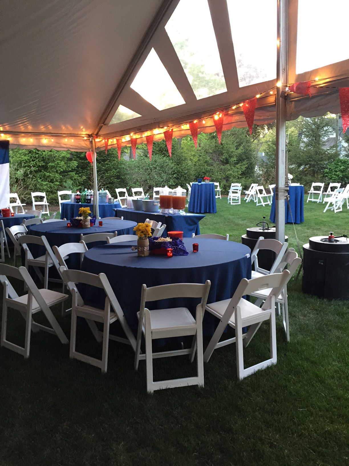 Blue and White table setup