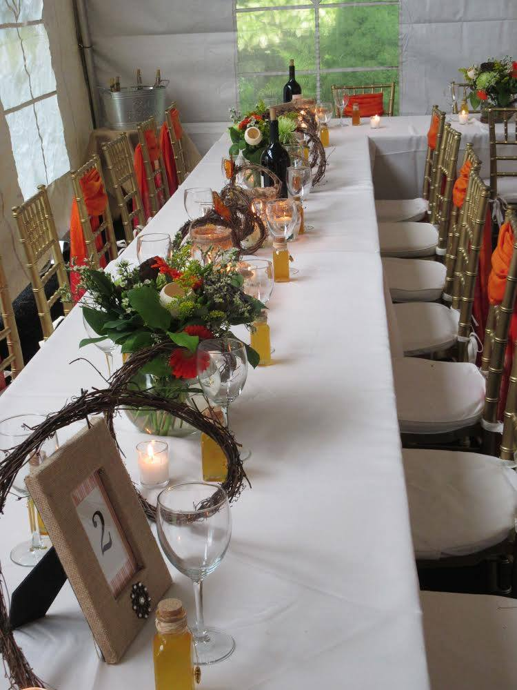 Fall engagement party seating