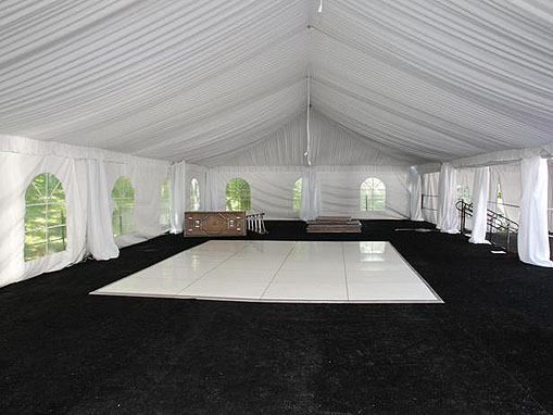 20x50 with white dance floor