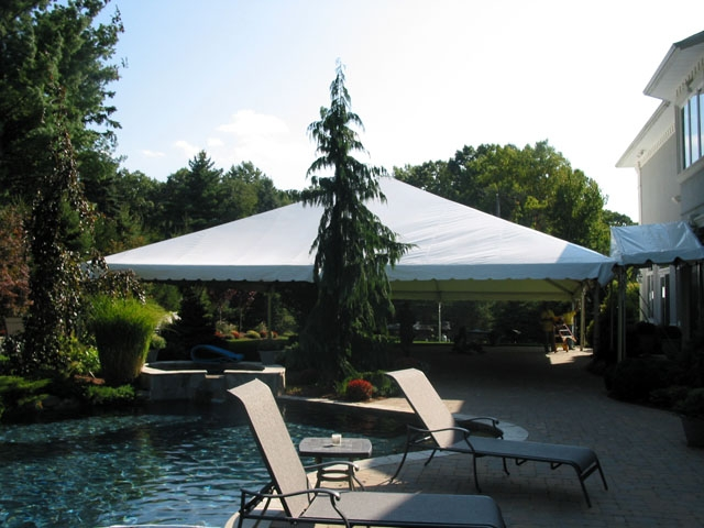 40x40 Frame Tent On Patio