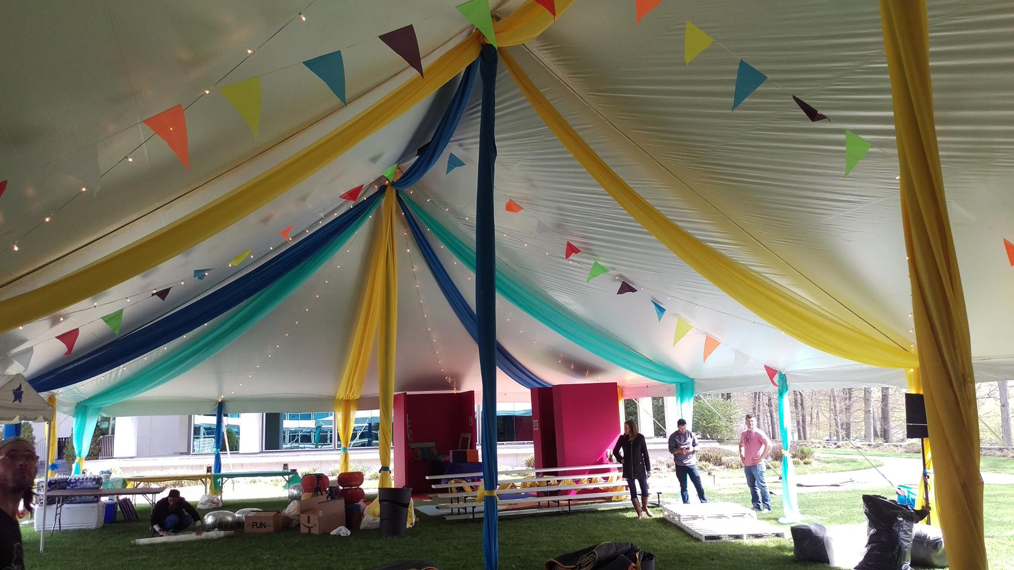 Custom draping for any tent