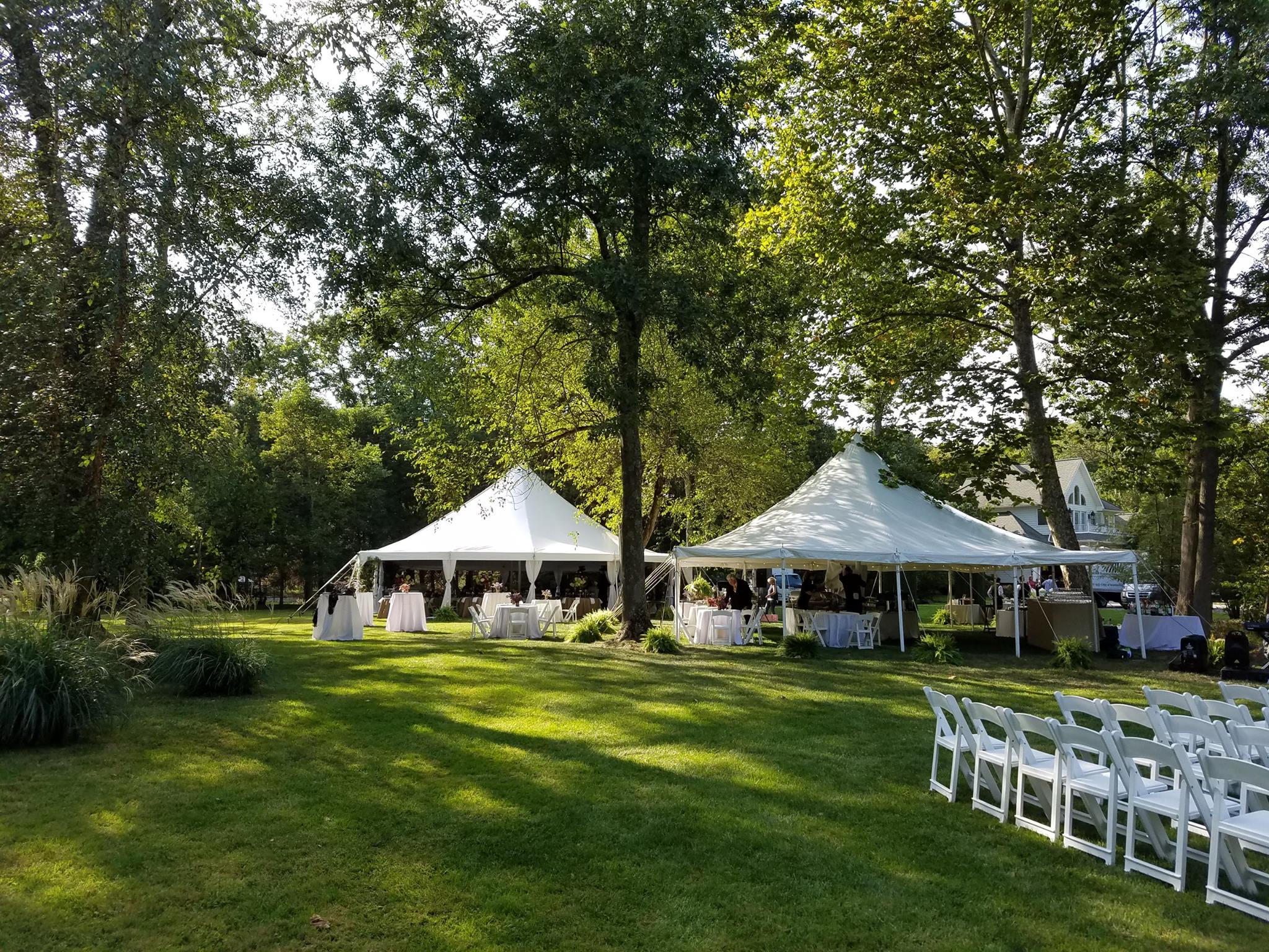 Multi-tent wedding