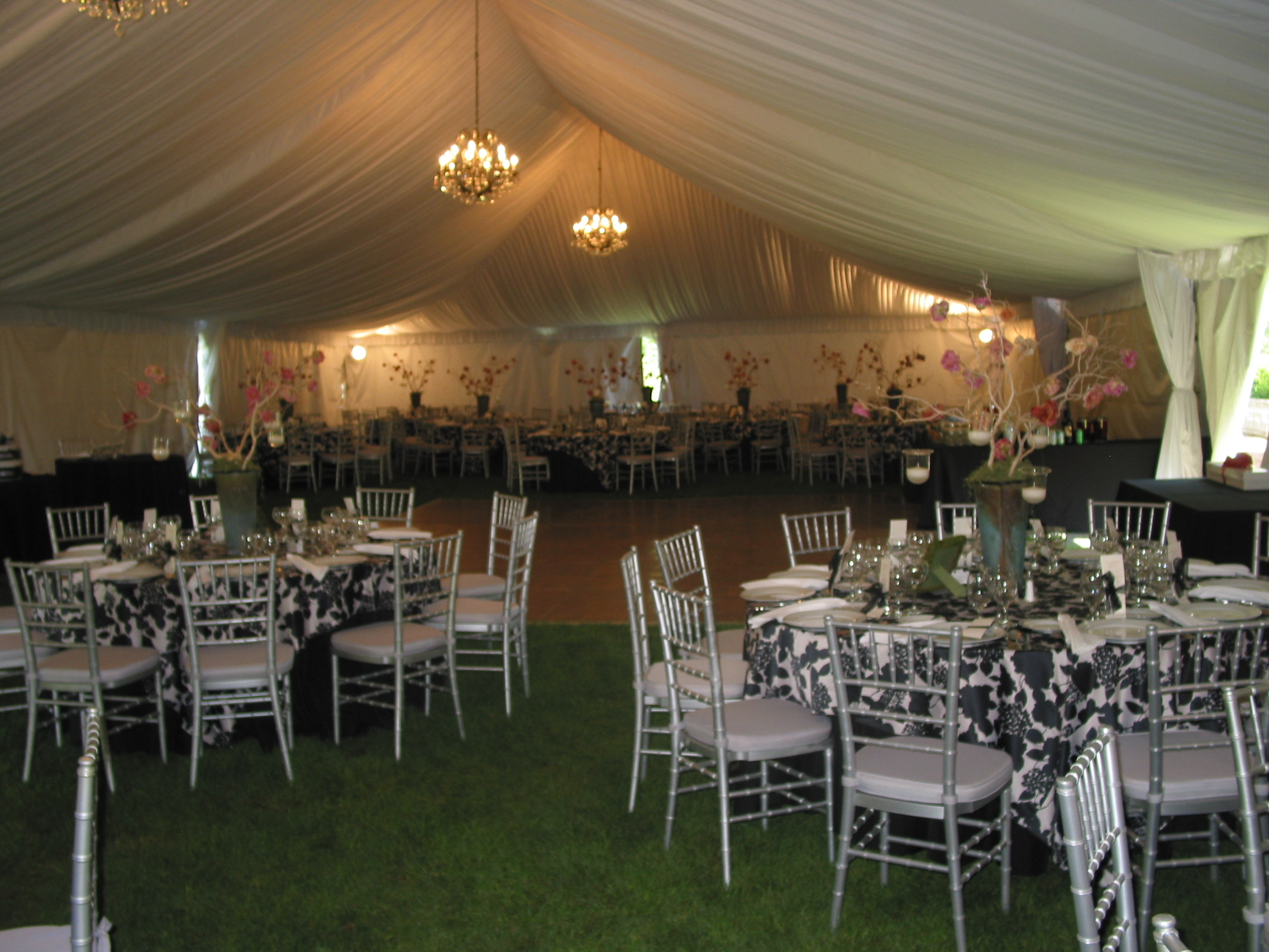 Tent Liner and Silver Chiavaris