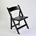 Rental store for CHAIR-BLACK WOOD  PADDED SEAT in Hillsdale NJ