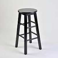 Rental store for BAR STOOL - BLACK WOOD in Hillsdale NJ