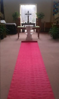 Rental store for AISLE RUNNER - 100  DELUXE RED in Hillsdale NJ