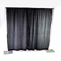 Rental store for PIPE AND DRAPE   8  HIGH BLACK PER FT in Hillsdale NJ