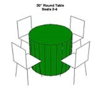 Rental store for TABLE-30  ROUND LOW FOR SEATING in Hillsdale NJ