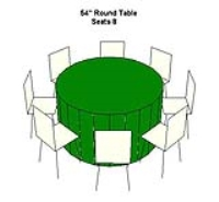 Rental store for TABLE-54  ROUND in Hillsdale NJ