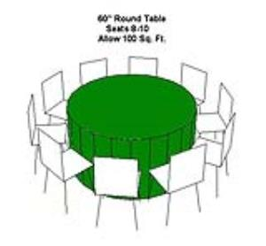 Where to rent TABLE-60  ROUND in Ridgewood New Jersey, Hillsdale, Franklin Lakes NJ, and the New Jersey, New York metropolitan areas
