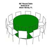 Rental store for TABLE-60  ROUND in Hillsdale NJ