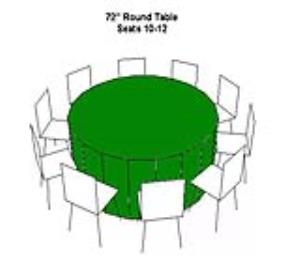 Where to rent TABLE-72  ROUND in Ridgewood New Jersey, Hillsdale, Franklin Lakes NJ, and the New Jersey, New York metropolitan areas