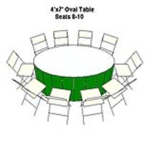 Where to rent TABLE-OVAL 48  X 84 in Ridgewood New Jersey, Hillsdale, Franklin Lakes NJ, and the New Jersey, New York metropolitan areas