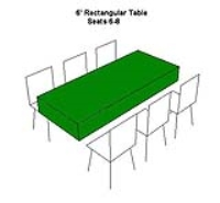 Rental store for TABLE-6  RECTANGULAR in Hillsdale NJ