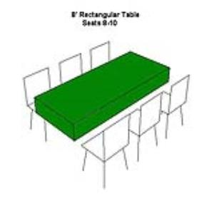 Where to rent TABLE-8  RECTANGULAR in Ridgewood New Jersey, Hillsdale, Franklin Lakes NJ, and the New Jersey, New York metropolitan areas
