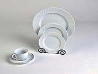 Rental store for REGINA PATTERN WHITE SWIRL CHINA in Hillsdale NJ