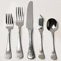 Rental store for BASTIA HAMMERED STAINLESS FLATWARE in Hillsdale NJ